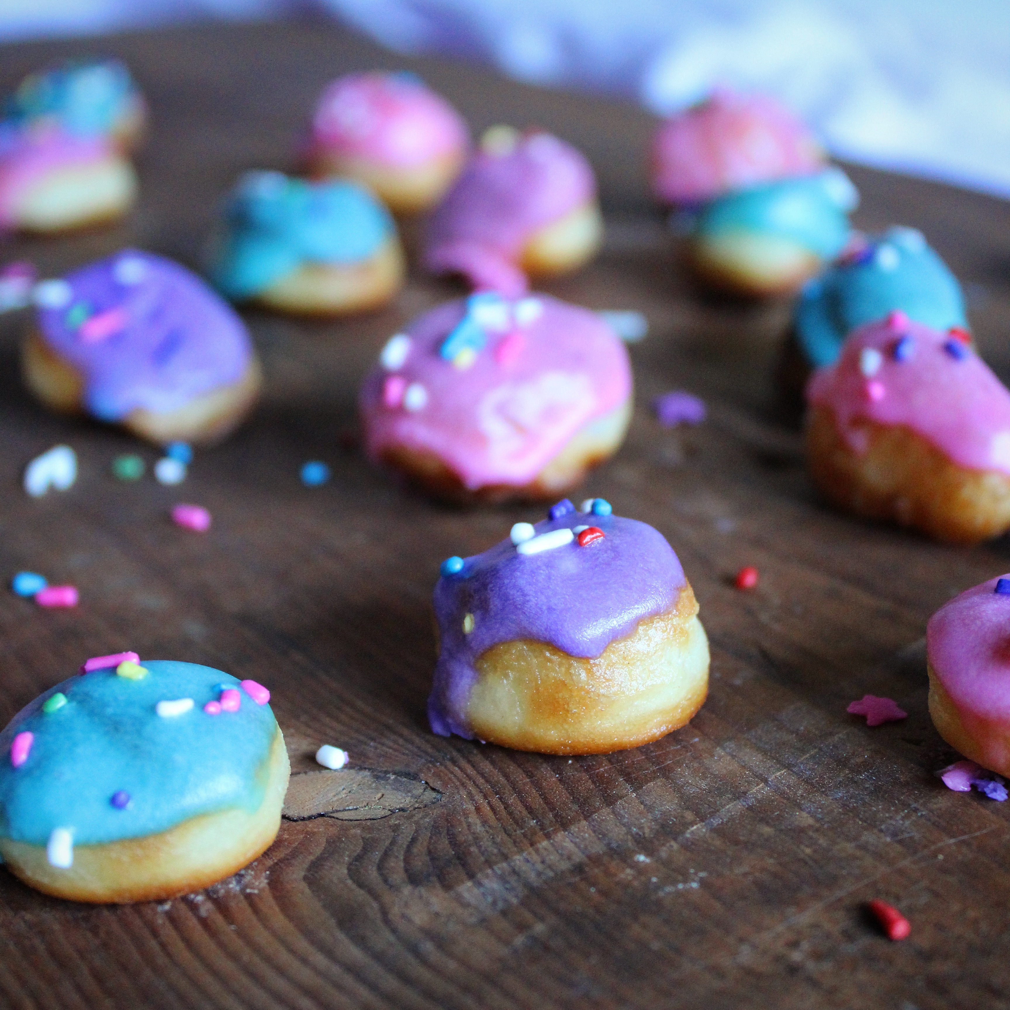 Pink donut sprinkles