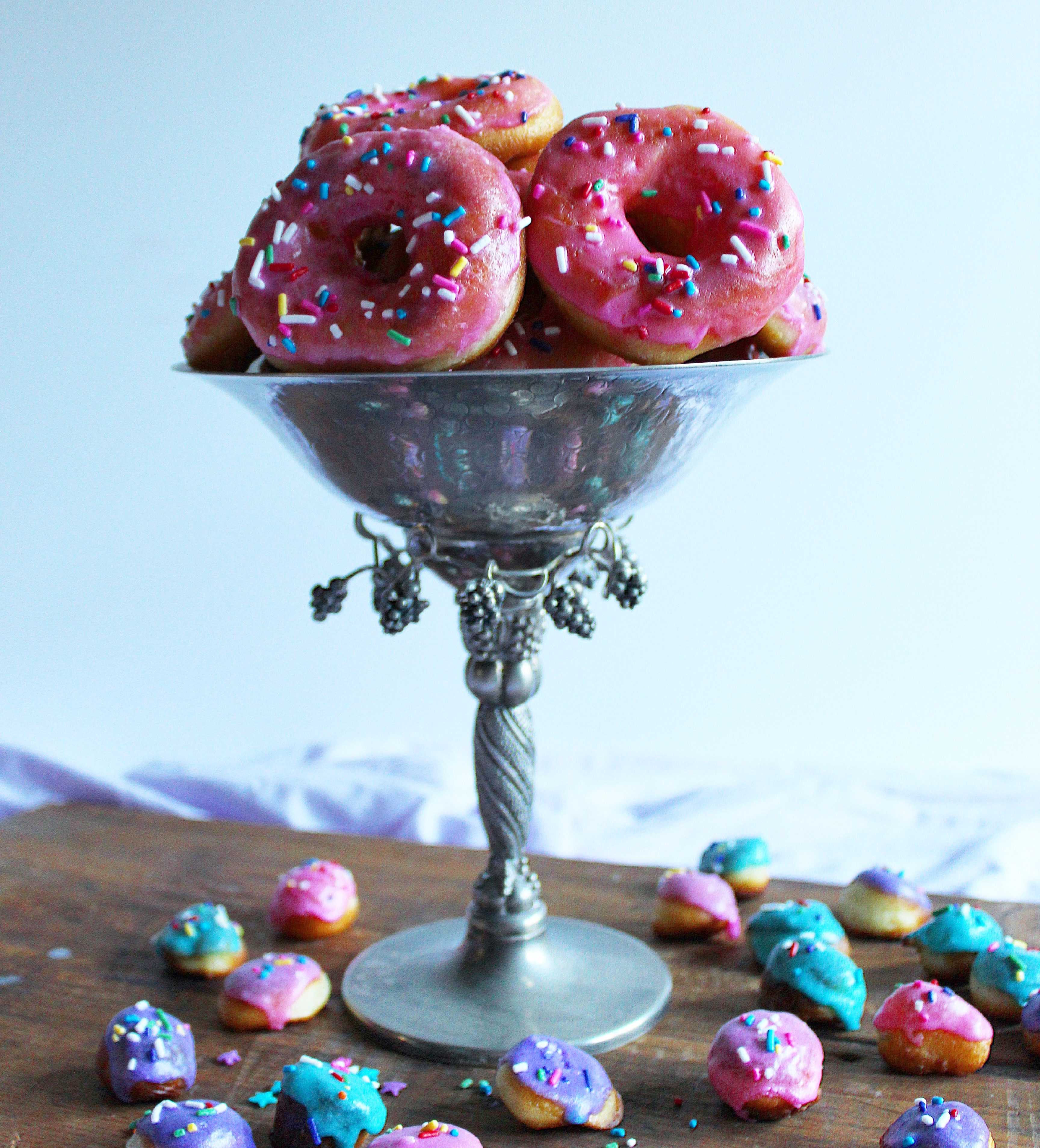 Pink Glazed Sprinkle Donuts